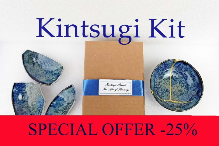 Kit Kintsugi with Gold and Silver powder included (Small)