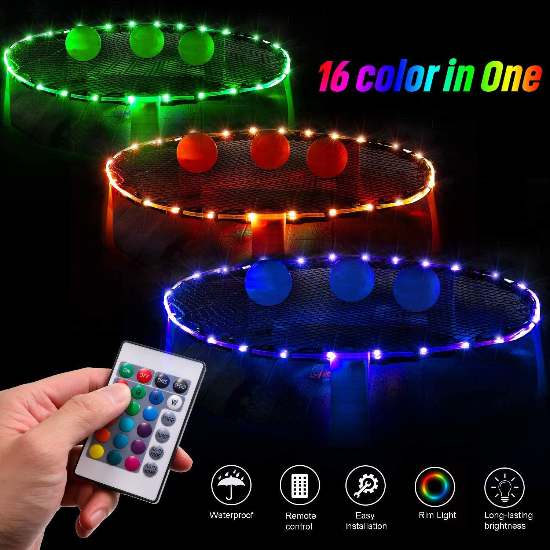 LED Hoop Lights for DIY glow in the dark games