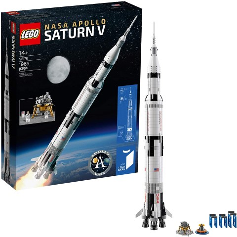 LEGO Ideas NASA Apollo Saturn V 92176 Outer Space Model Rocket for Kids and Adults (Small)