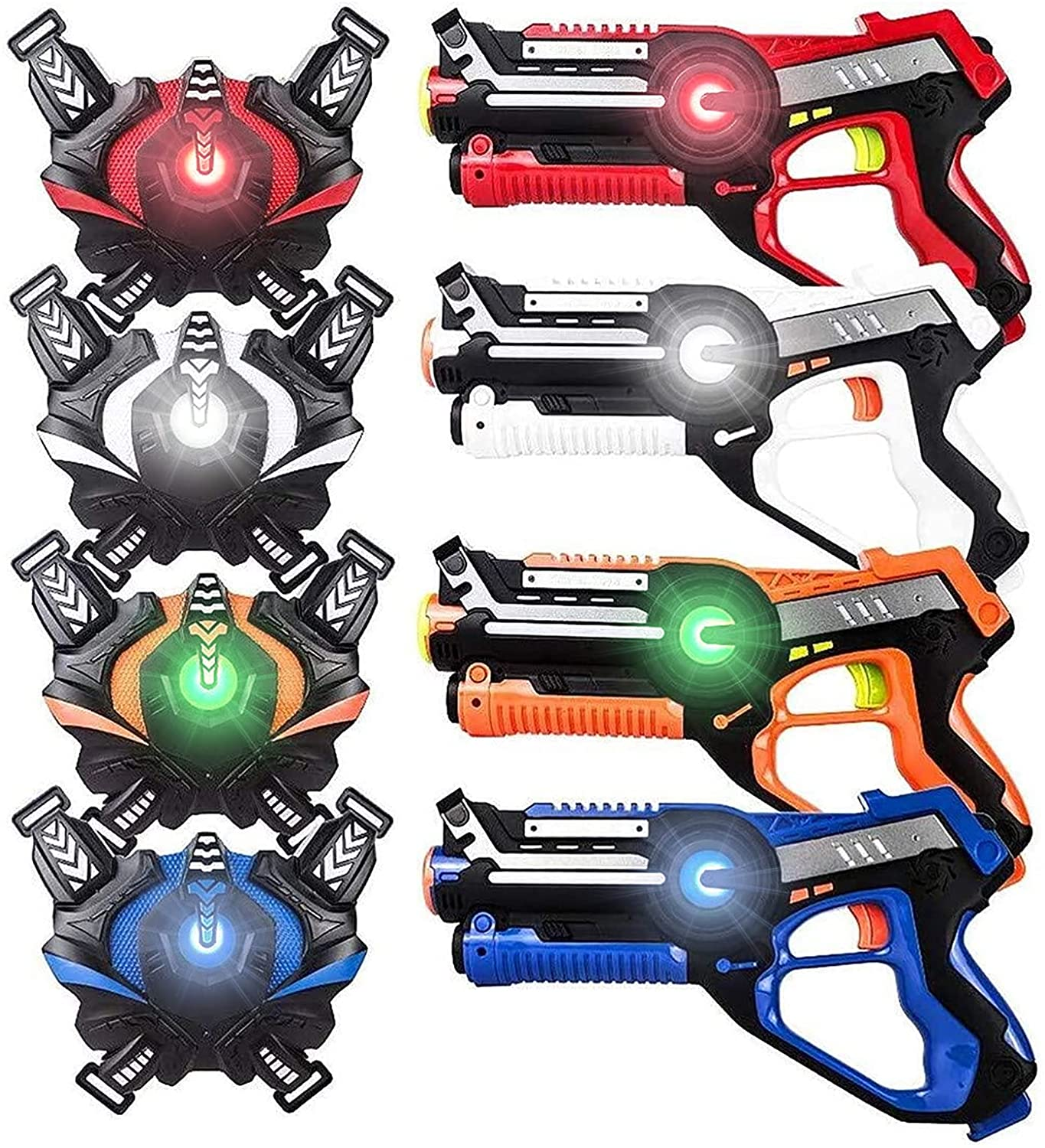 Large Laser Tag Equipment Sets with Gun and Vest Laser Tag Guns For Adults & Kids