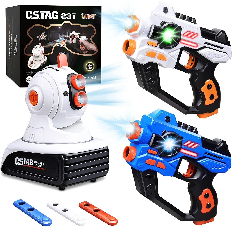 Laser Tag Set, 2 Infrared Laser Gun with Projector & 3 Target Cartridges