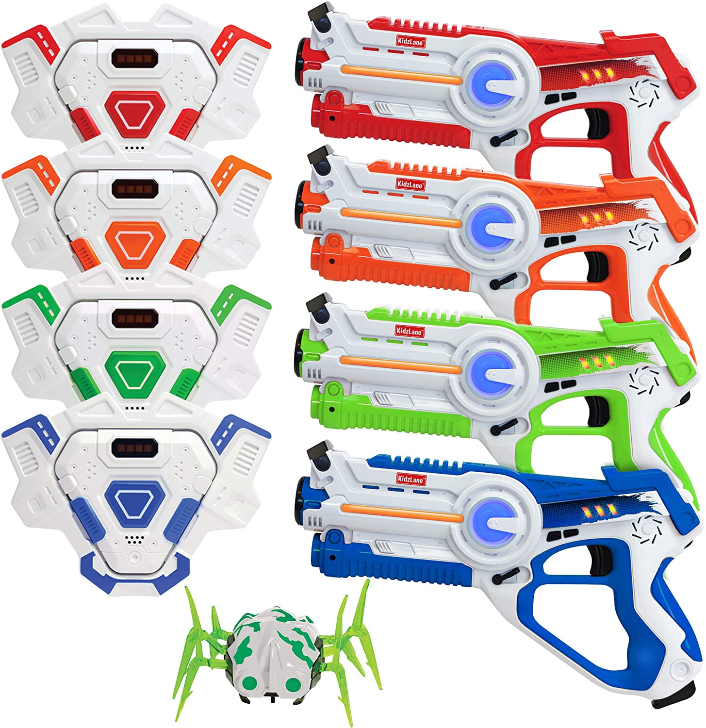 Lazer Tag Set of 4 with Vest and Laser Tag Spider Target