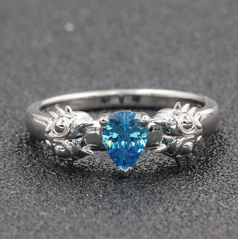 Moons Tear Engagement ring for gamers (Small)