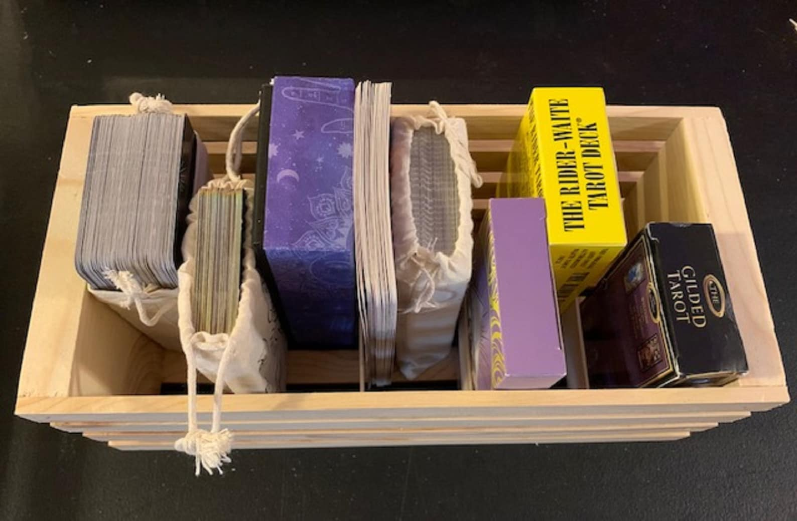 Oracle and Tarot Card deck organiser