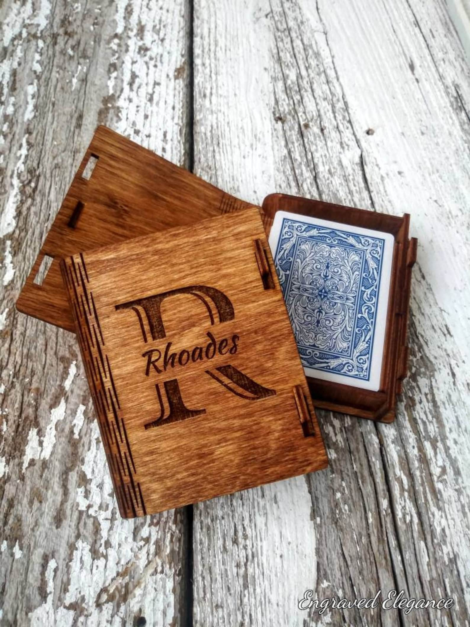 Personalized Wooden Deck Box