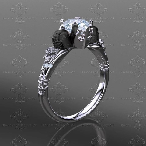 Prevail - Star Wars Inspired engagement ring for geeks (Small)