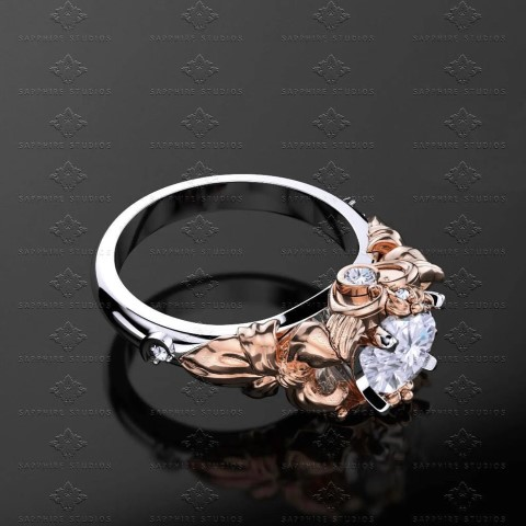 Prism - Gold Sailor Moon Engagement Ring For Anime Lovers (Small)