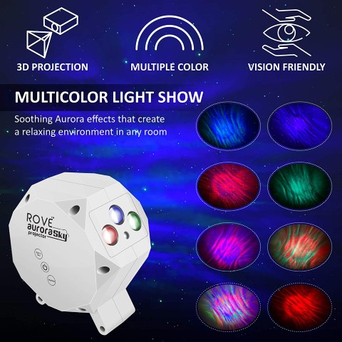 ROVE Aurora Sky Galaxy Projector - Laser Star Projector (Small)