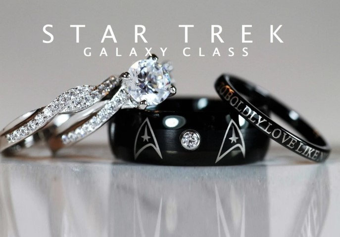 STAR TREK Galaxy Wedding and Engagement Rings For Nerds (Small)