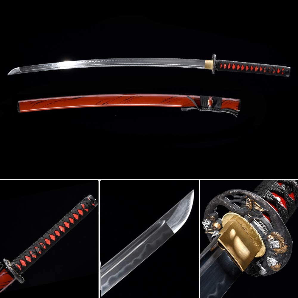 Samurai Katana Japanese Full Tang Carbon Steel Sword