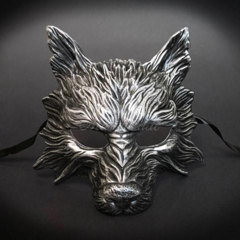 Steampunk Halloween Costumes Wolf Mask (Small)