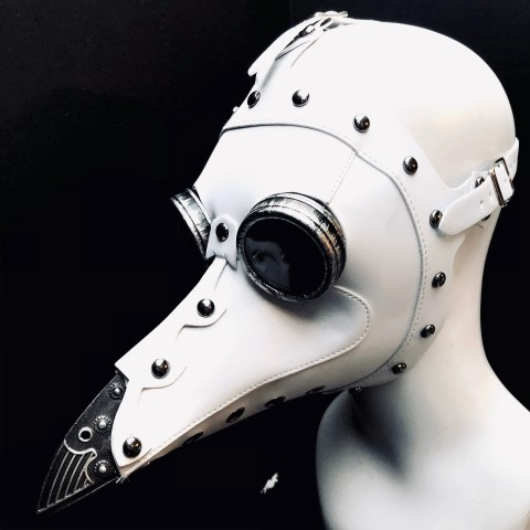 Steampunk Plague doctor Mask with LED Lights (Small)
