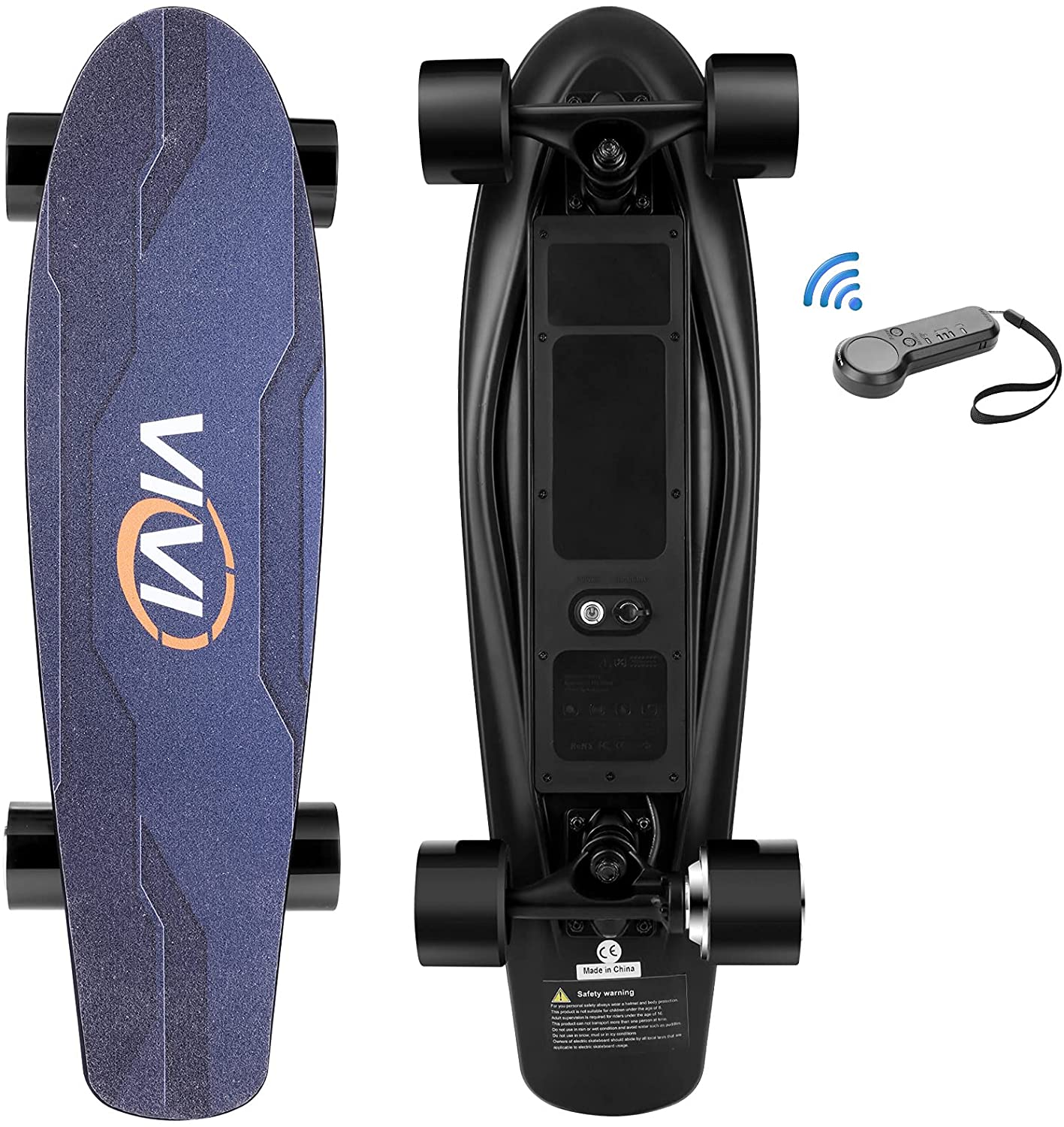 Vivi Electric Skateboards for adults - longboard with remote