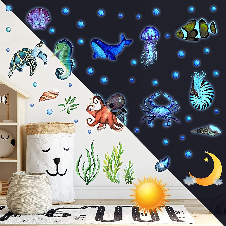 Waterproof Ocean glow in the dark Wall Sticker Decoration