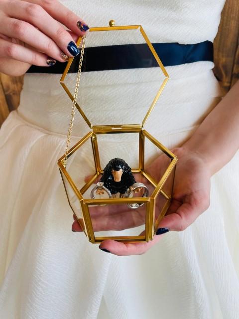 Wizarding Wedding Ring Box, Geek Proposal Box, Nerd Engagement Ring box (Small)