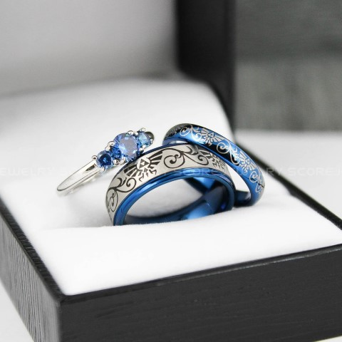 Zelda Wedding Rings for gamers (Small)