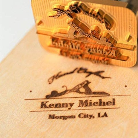 wood branding iron - personalized gifts for crafters (Small)
