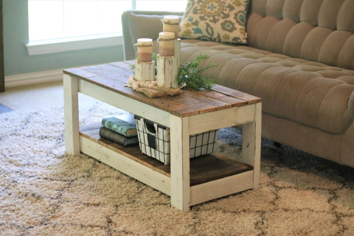 Combo Coffee Table with Shelf (Small)