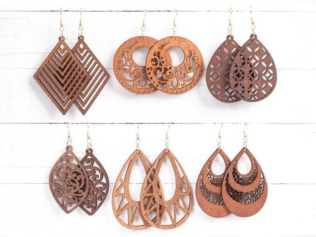 Wood Earrings (Small)
