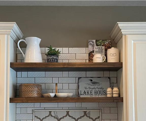 Wood Floating Shelf with Heavy-duty Hidden Shelf Bracket