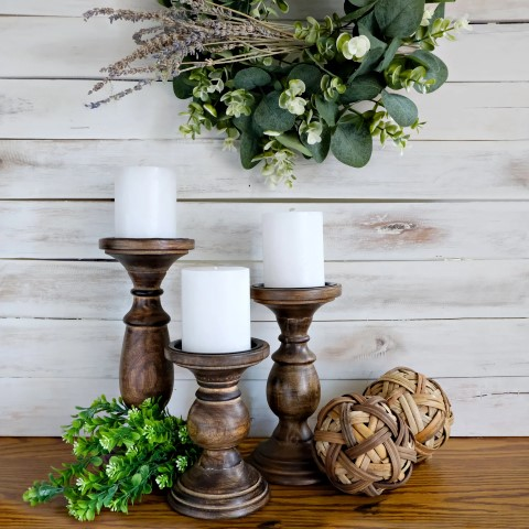Woodworking Projects That Sell - Farmhouse Candle Holders
