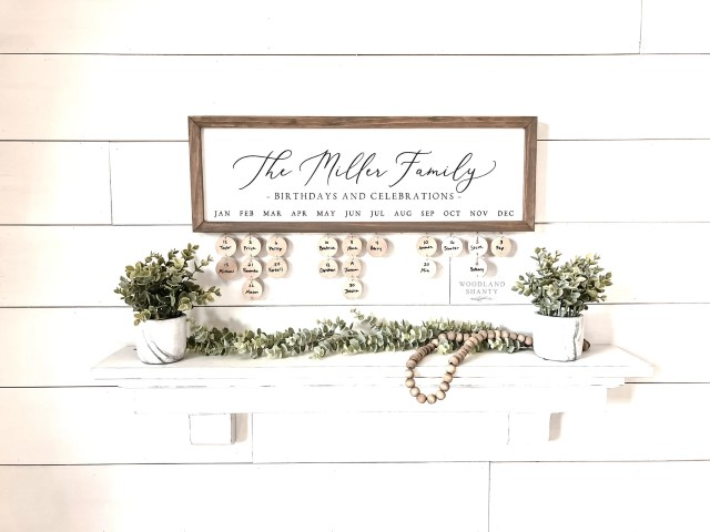 Woodworking Projects That Sell - Personalized Family Name Birthday Board