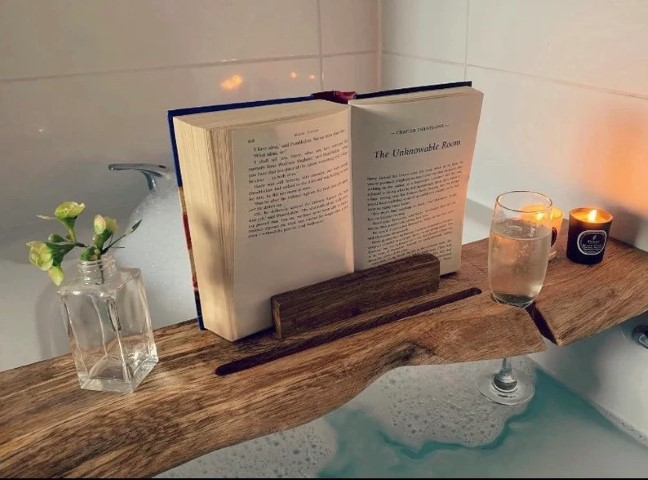 Woodworking Projects That Sell - Rustic Bath Caddy