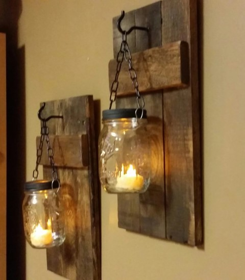Woodworking Projects That Sell - Rustic Candle Holder Set