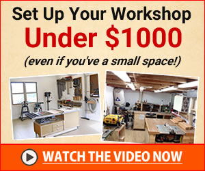 how to set up a small woodworking workshop
